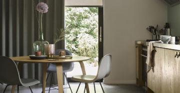 gordijnen met rolgordijnen keuken