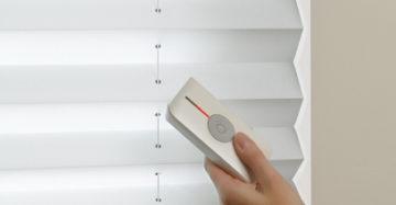 elektrische plissé wit