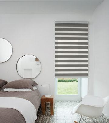 duo rolgordijnen grijs slaapkamer
