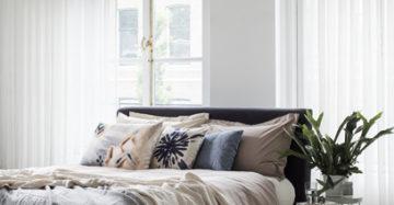 Transparante gordijnen slaapkamer