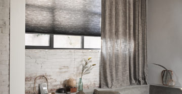 Toppoint gordijn Mingle enToppoint Duette®Shades model AO20 in stof 65000