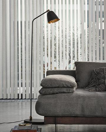 Alle transparante raamdecoratie op een rij Toppoint 89mm vlakke pvc lamellen kleur 3060