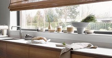 Alle transparante raamdecoratie op een rij Toppoint vouwgordijn Basics Florie