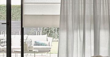 Ibizalook in huis met linnen gordijnen Toppoint No Limits gordijn Sol en No Limits vouwgordijn Radium